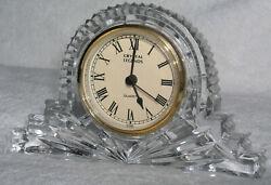 Mantel Quartz Clock Godinger Lead Crystal Legends Vtg Handcrafted Tested Works