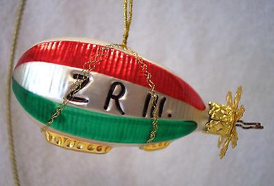 Zeppelin,Air Ship,Transportation,Old World Christmas,Inge-Glas,Retired,German