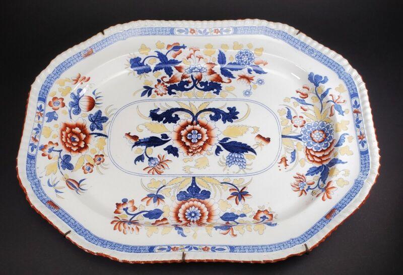"""Antique Ironstone Copeland c. 1860 Platter 17"""" X 13 1/4"""""""
