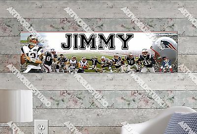 Patriotic Custom Banner - Personalized/Customized New England Patriots Poster Wall Art Decoration Banner