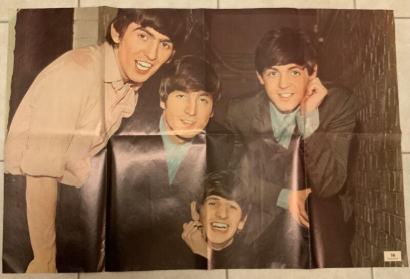 "1960's Vintage 16 Magazine Beatles Poster 36"" x 24"""