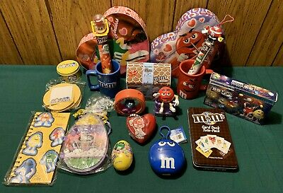 Vtg M & M's Easter Valentines Christmas Miscellaneous Candy & Accessories Lot