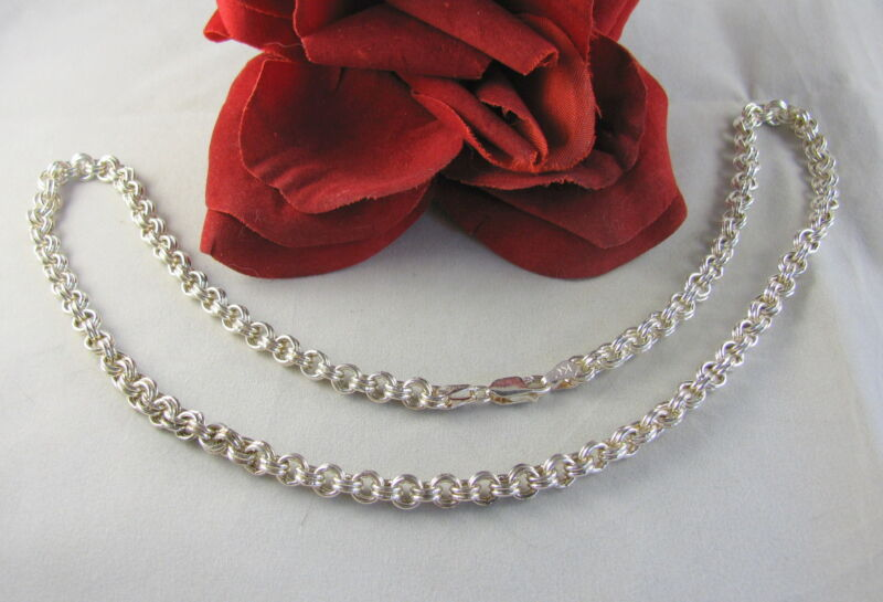 """Sterling Silver KC Signed 20"""" 36g Chain   Necklace CAT RESCUE"""
