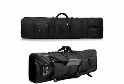 "46"" Long 600D Soft Padded Gun Case Tactical AR Hunting Bag Rifle Fishing Bag"