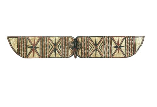 """African Horizontal Butterfly Mask Burkina Faso 78.5"""" W by 12.5"""" H"""