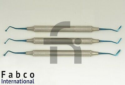 Set Of 3 Dental Composite Filling Instruments Flat Plastic Ball Tip Burnisher