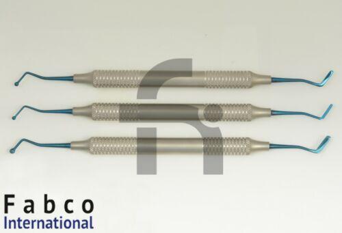 Set Of 3 Dental Composite Filling Instruments Flat Plastic Ball Tip Burnisher
