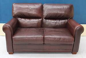 Genuine Leather Lounge MORAN 2 Seater SOFA COUCH Noble Park Greater Dandenong Preview