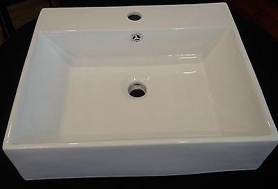 "White Porcelain Vessel Sink 18"" x 18"" x 5.5"""