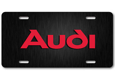 AUDI Aluminum Steel Metal look Car Auto License Plate Tag Abstract Art New