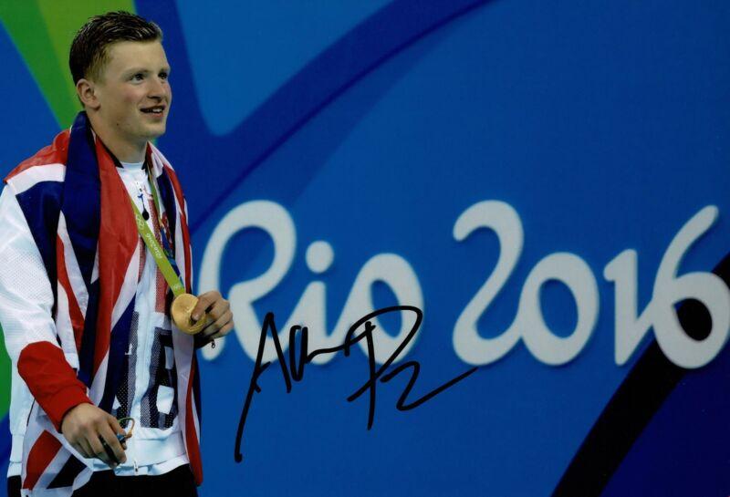 Adam Peaty Signed 12X8 Photo Rio 2016 Tokyo 2020 Genuine Signature AFTAL COA (I)