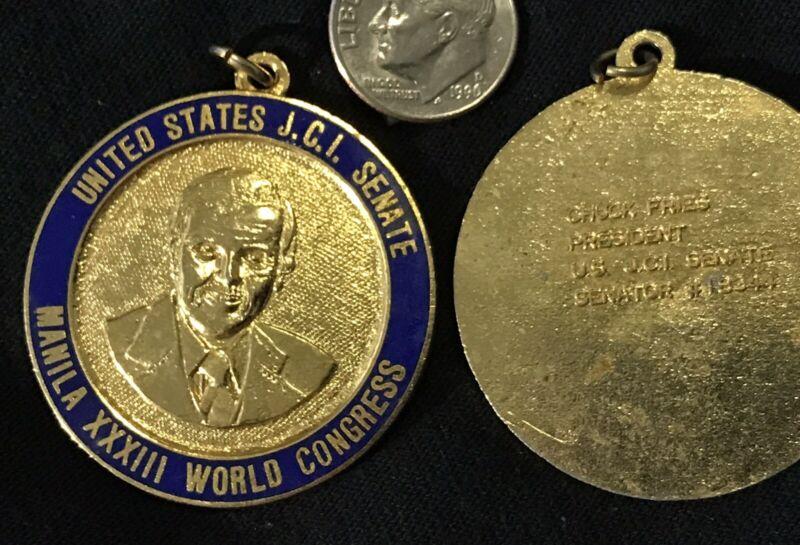 United States JCI Senate Medallion 1978 Manila XXXIII World Congress