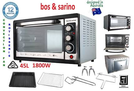 BOS & SARINO Convection Rotisserie BBQ Pizza Kebab Oven 1Yr Wrnty Southport Gold Coast City Preview