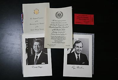 AUTHENTIC Ronald Reagan Inauguration Invitation 1985 with TICKET  - Great Cond
