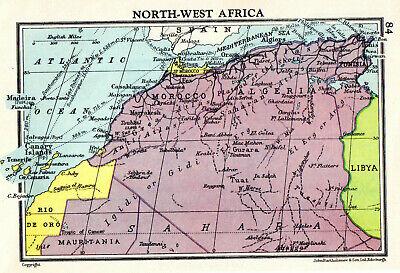 Map Of North West Africa John Bartholomew Vintage 1951