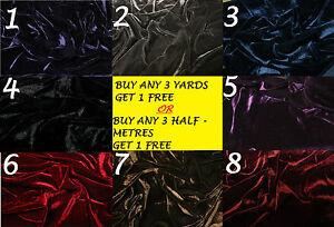 Velvet-Velour-Lycra-Spandex-4-Way-Stretch-Dress-Making-Crafts-Fabric-Material
