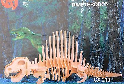 Holzbausatz Dinosaurier 3D Puzzle Modellbau Dino Holz Puzzle  Dimeterodon neu