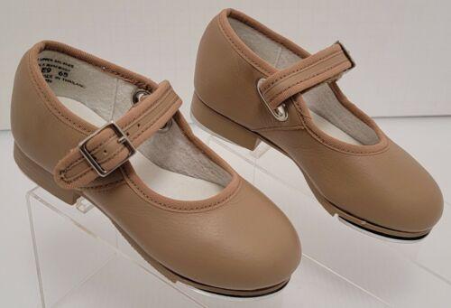 Capezio TeleTon 3800T Tap Dance Shoe Beige Little Girl