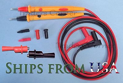 Quality Replacement Test Leadsprobes Alligator Clips Fluke Others Meters