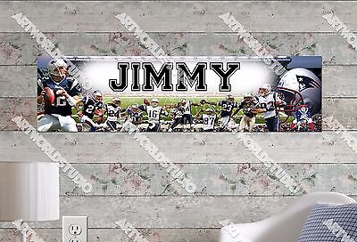Patriotic Custom Banner - Personalized/Customized New England Patriots Name Poster Wall Decoration Banner