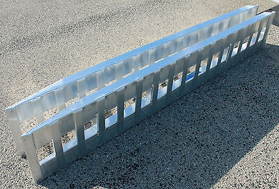 "like Kaufman 94"" Aluminum Trailer Loading Ramps car truck auto hauler Hook ends"