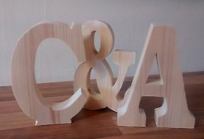 FREE STANDING PINE WOODEN LETTERS/HOME DECOR/NAME. large wooden -