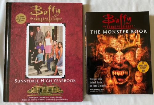 Lot of 2 Buffy the Vampire Slayer Sunnydale High Yearbook & The Monster Book