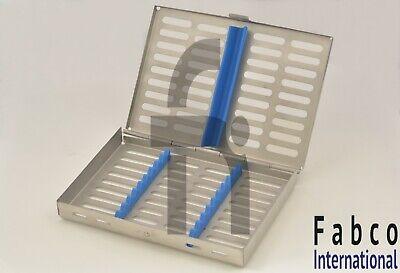 German Dental Autoclave Sterilization Cassette Rack Box Tray For 10 Instrument
