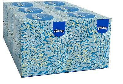 Kleenex White Facial Tissue Pop-Up Box, 2-Ply (95 tissues per box, 6 boxes per
