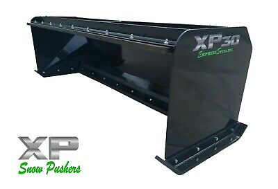 8 Xp30 Black Snow Pusher W Pullback Bar- Skid Steer Loader - Local Pick Up