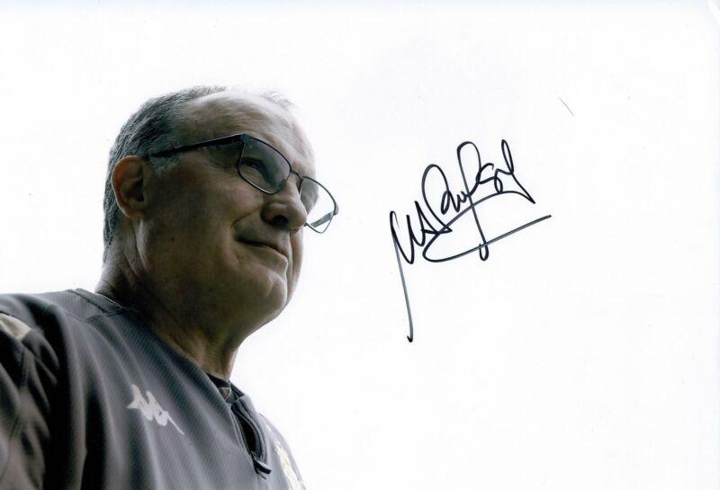 Marcelo Bielsa Signed 12X8 Photo LEEDS UNITED GENUINE Signature AFTAL COA (9145)