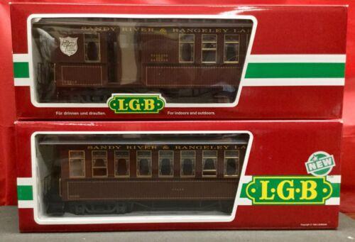 LGB #33810 & #33800 Sandy River & Rangeley Lakes Passenger Cars