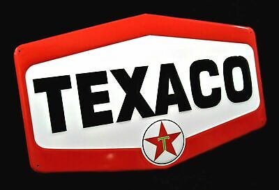 """Large Vintage Style 23"""" Texaco Gas Station Signs Man Cave Garage Decor Oil Can"""