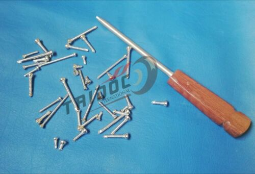 Cortical screws 4.5mm Different 400Pcs With Driver orthopedics Instrument A+