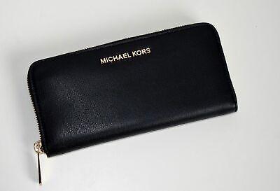 MICHAEL KORS Geldbörse Portemonnaie JET SET TRAVEL schwarz - gold 35H7GTVZ7L