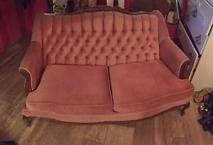 Pink Settee Vintage Couch