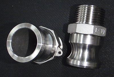 Stainless Steel Cam Lock Adapter 1 Male - 1 Npt Male Nipple Cl24-100