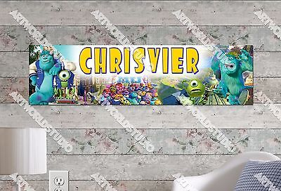 Personalized/Customized Monsters University Movie Name Poster Wall Art Banner