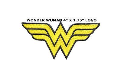 SUPERHERO SUPER HERO WONDER WOMAN EMBROIDERY IRON ON PATCH BADGE