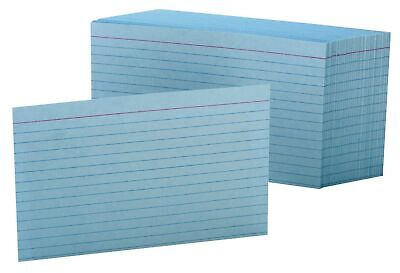 Oxford Ruled Color Index Cards 4 X 6 Blue 100 Per Pack 7421 Blu