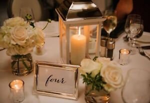Table numbers - wedding or event