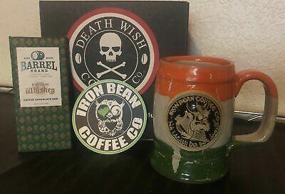 IRON BEAN COFFEE IBCC IRISH FLAG MUG + DEATH WISH IRISH CREAM WHISKEY CHOCOLATE Irish Chocolate Coffee