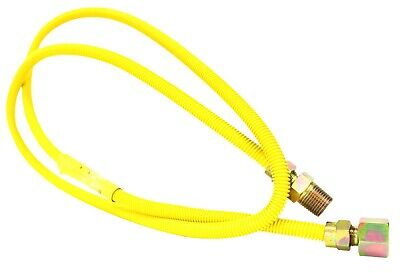 """NEW 3/8"""" OD 1/2"""" MIP x 1/2"""" FIP Yellow Coated Gas Dryer Gas Connector  All Sizes"""