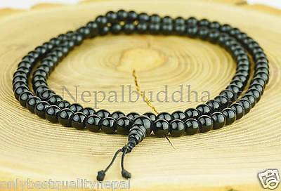 Schwarze Halskette Black Onyx Mala Wickelband Armband Herrenschmuck 113c