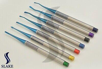 Dental Pdl Luxating Root Elevators Set Of 7 Precise Periotomes Tips Titanium Lab