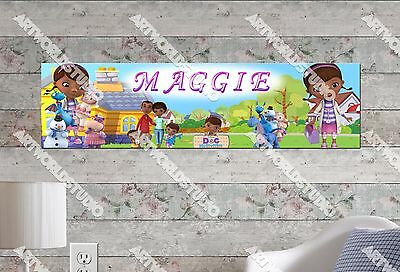 Doc Mcstuffins Banner (Personalized/Customized Doc McStuffins Name Poster Wall Art Decoration)