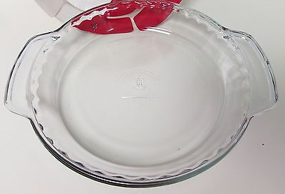 ANCHOR HOCKING DEEP DISH PIE PLATE PAN FLUTED EDGE 9