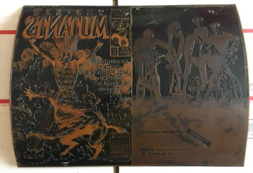 Marvel The New Mutants 44 Barry Windsor-Smith Cover Art Comic Printing Plate