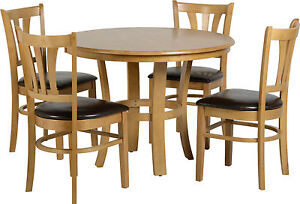 Grosvenor 40 39 Round Dining Set Table With 4 Chairs In Natural Oak Free