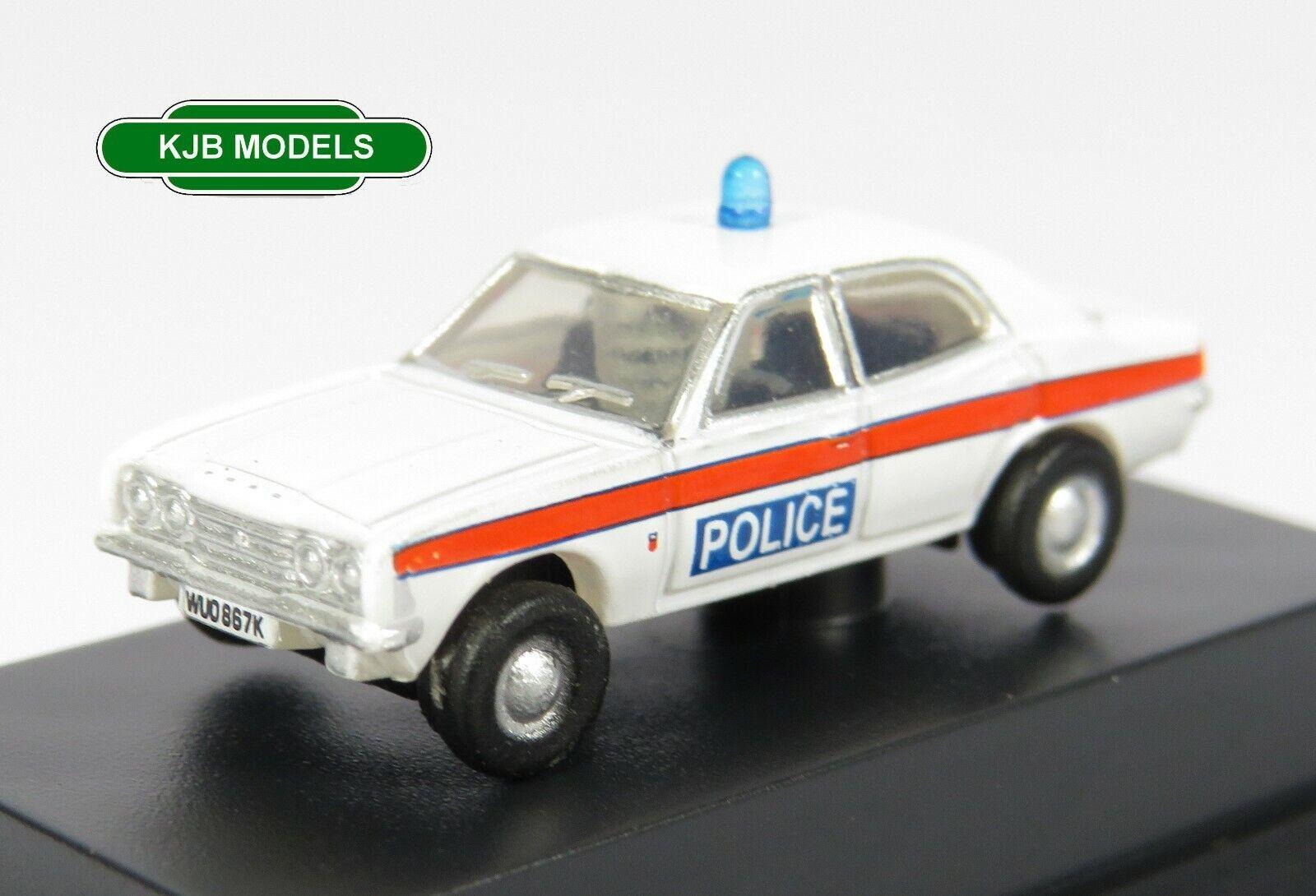 BNIB N GAUGE OXFORD 1:148 NCOR3004 Ford Cortina Mk3 Devon & Cornwall Police Car